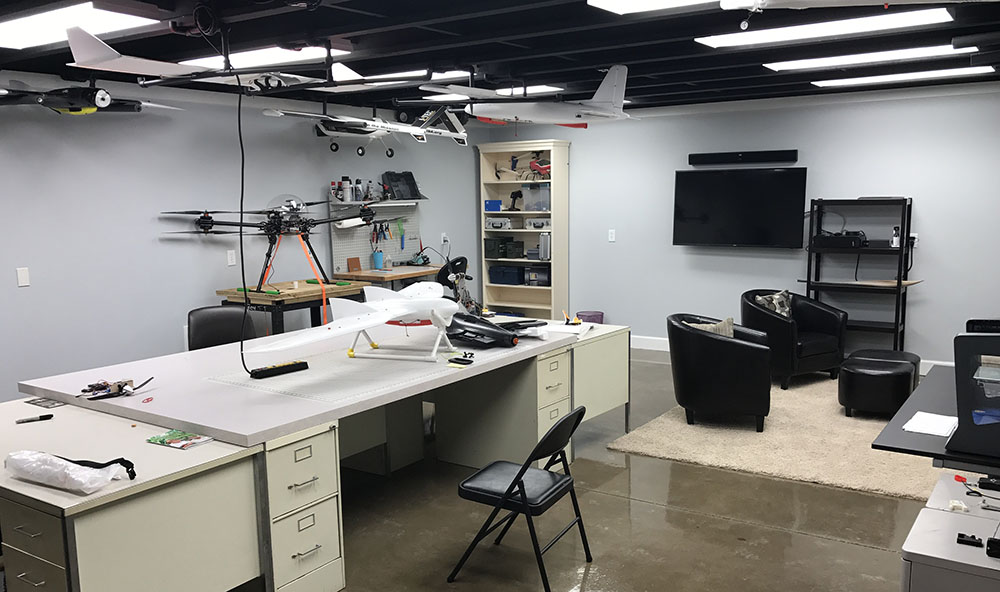 UAV office space at ITEC with remote control aircraft
